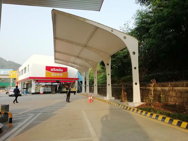 重庆膜布钢结构汽车加油站